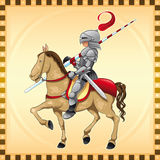 Knight and Horse. Vector Image, software: Illustrator Stock Photography