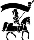 Knight on Horse with Banner/ai Stock Photography