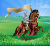 Knight on Horse in Field Royalty Free Stock Photos