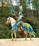 Medieval Knight Horse Riding, Prague Castle Royalty Free Stock Image