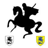 Knight on a horse.Saint George. And The Dragon vector Stock Photo