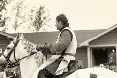 Knight on a horse, sepia Stock Photos
