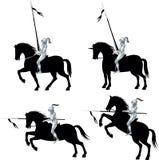 Knight_Horse_Set-1 Stock Image
