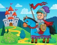 Knight on horse theme image 2 Stock Image