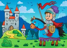 Knight on horse theme image 3 Royalty Free Stock Photography