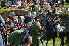Knight on horse tournament Royalty Free Stock Photos
