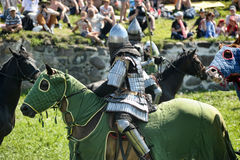 Knight on horse tournament Royalty Free Stock Images