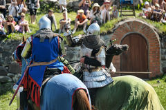 Knight on horse tournament Royalty Free Stock Image