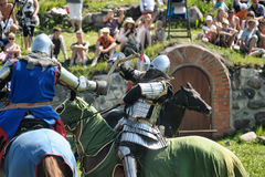Knight on horse tournament Stock Image