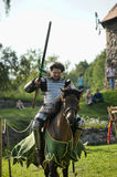 Knight on horse tournament Stock Images