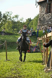 Knight on horse tournament Royalty Free Stock Photo