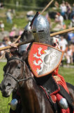 Knight on horse tournament Stock Photo