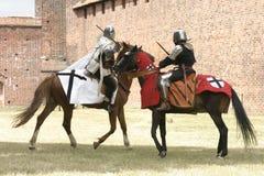Knight on horse stock photo