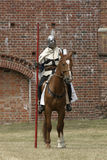 Knight on horse. With weapon in hand Stock Photo