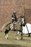 Knight on horse. With weapon in hand Stock Photos