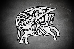 Knight on the horse - Zadar city seal Royalty Free Stock Photo
