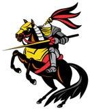Knight on horseback with lance Stock Photo