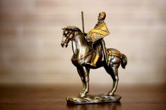 Knight on horseback Royalty Free Stock Photo