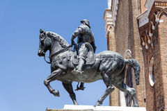 A knight on horseback, Statue in Venice Stock Photo