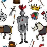 Knight icons pattern Stock Photos