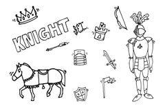 Knight icons set Stock Photos