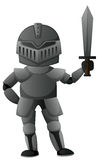 Knight with iron armour. Illustration Royalty Free Stock Photography