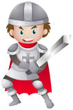 Knight in iron armour suit Royalty Free Stock Photos