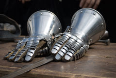 Knight Iron gloves Stock Photography
