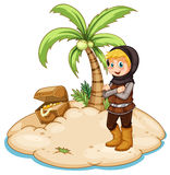Knight and island Royalty Free Stock Photo