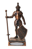 Knight isolated over white Royalty Free Stock Photography