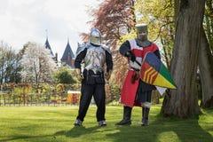 Knight jogos durante sobre a feira da fantasia do duende Imagens de Stock