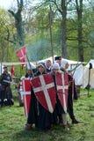 Knight jogos durante sobre a feira da fantasia do duende Fotos de Stock