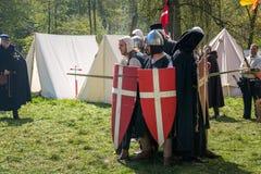 Knight jogos durante sobre a feira da fantasia do duende Fotografia de Stock