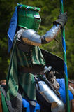 Knight Jousting at Renaissance Festival Stock Images