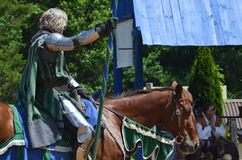Knight Jousting at Renaissance Festival Royalty Free Stock Photography