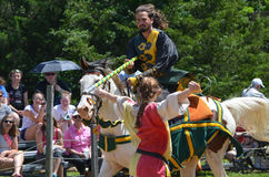 Knight Jousting at Renaissance Festival Stock Photos