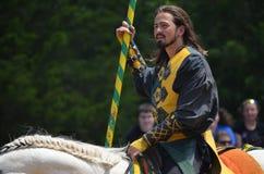Knight Jousting at Renaissance Festival Stock Photo