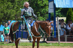 Knight Jousting at Renaissance Festival Royalty Free Stock Image