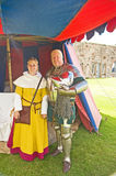Knight and Lady in full medieval costume. Stock Photo