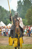 Knight with lance on horseback Royalty Free Stock Photography