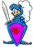 Knight lover cartoon Stock Image