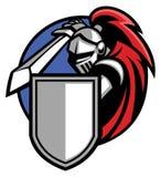Knight mascot. Vector of knight mascot wearing an armor Stock Photo
