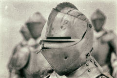 Knight in medieval armor Stock Photos