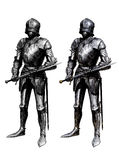 Knight 1. Medieval knight - gravure effect in Photoshop Royalty Free Stock Photography