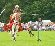 Knight in Medieval reenactment. Stock Photos