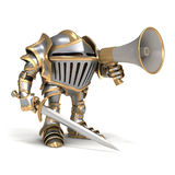 Knight with megaphone Stock Photos