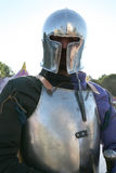 Knight in metal armour Stock Images