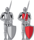 Knight metal red vector Royalty Free Stock Photo