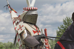 Knight. Minsk, Belarus - June 18, 2016: Festival The Age of chivalry - mounted knights tournament Stock Images