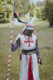 Knight. Minsk, Belarus - June 18, 2016: Festival The Age of chivalry - mounted knights tournament Royalty Free Stock Images